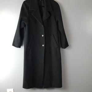 Stephanie Mathews Wool Gray Coat size 8